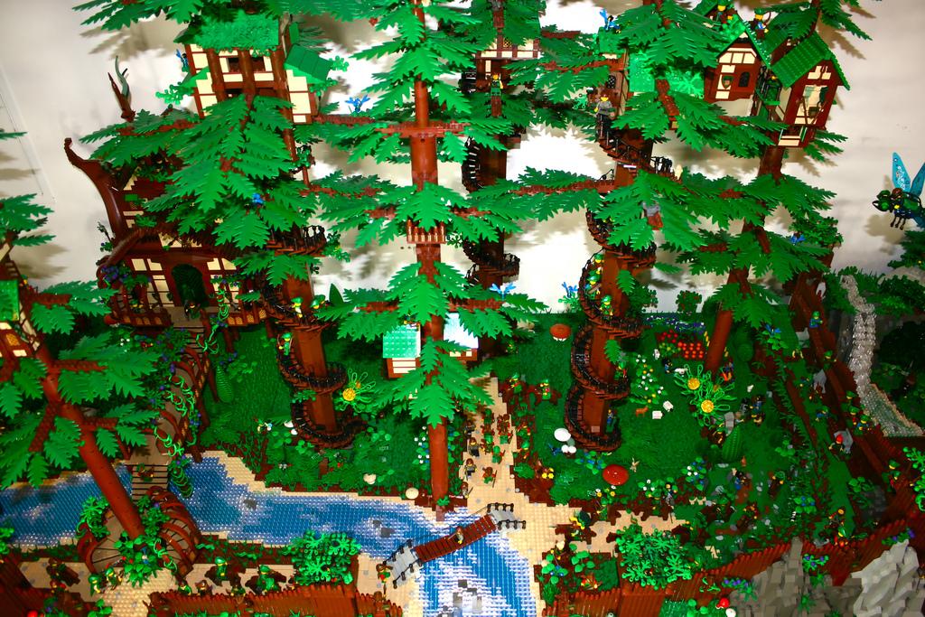 3d Brick Wallpaper Amazon Amazing Lego Moc Lego Fairy Forest Brick Archives A
