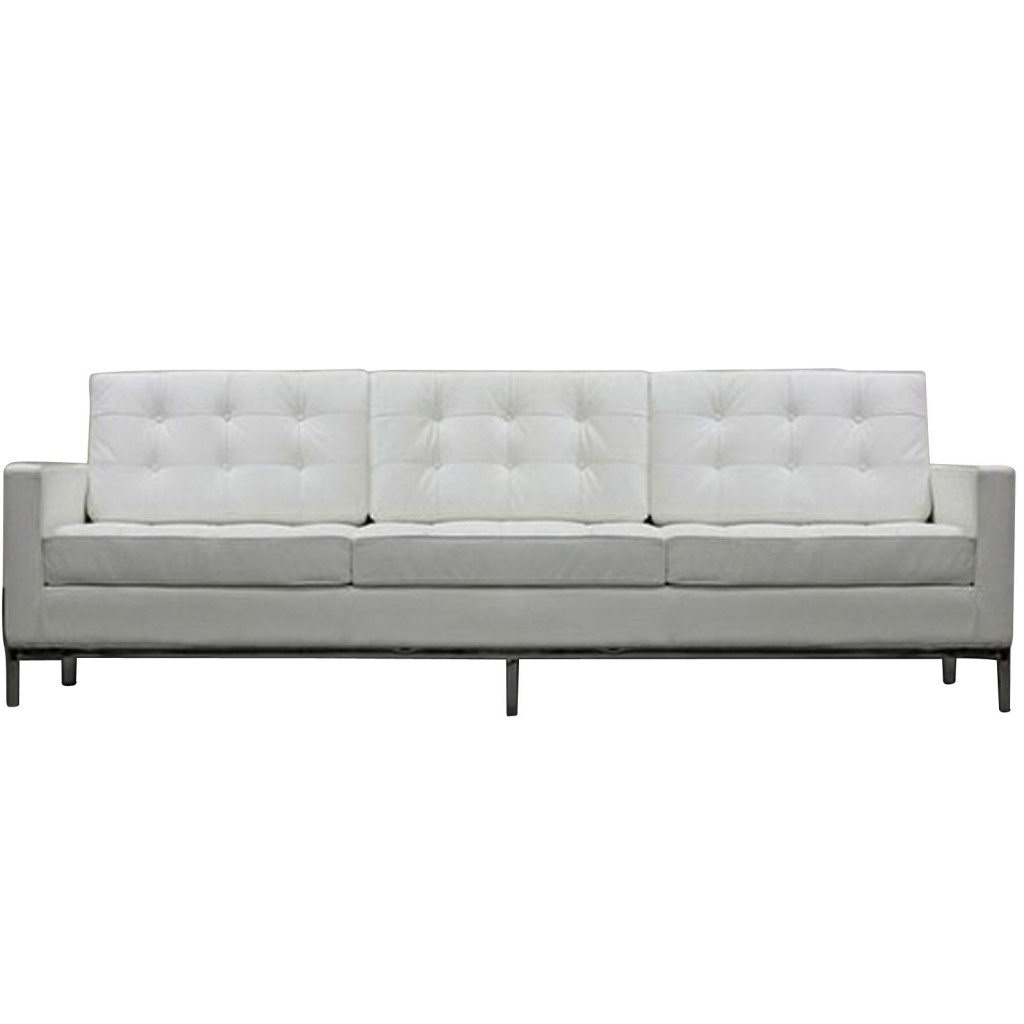 White Leather Couch Bateman Leather Sofa