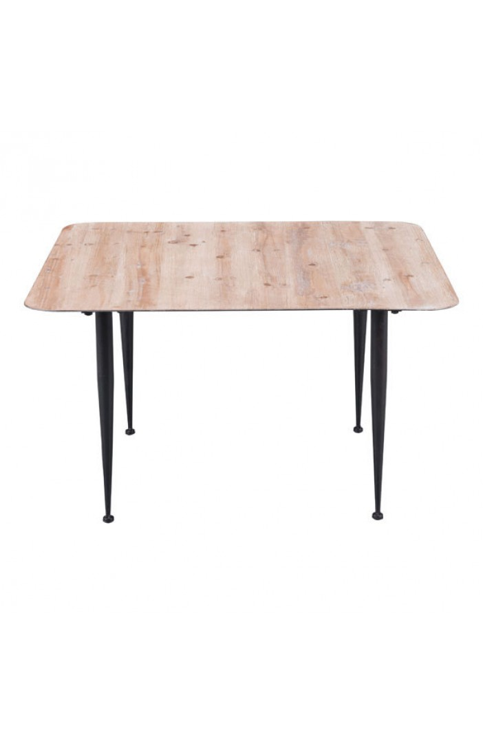 Mid Century Natural Wood Square Coffee Table