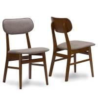 Joma Grey Fabric Mid Century Chair (2 Set) | Modern ...