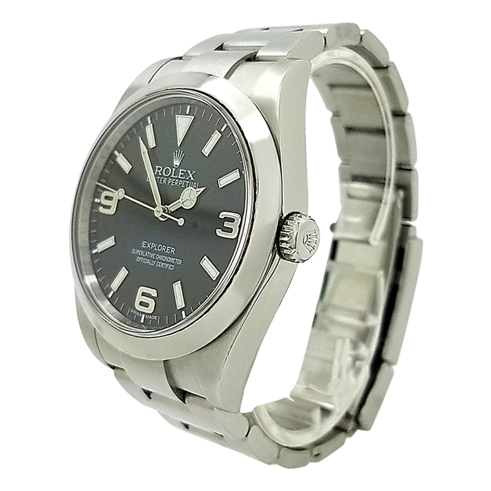 Rolex Explorer Rolex Explorer 214270 Black Dial Stainless Steel 39mm Automatic Watch Pre Owned Watches Rolex