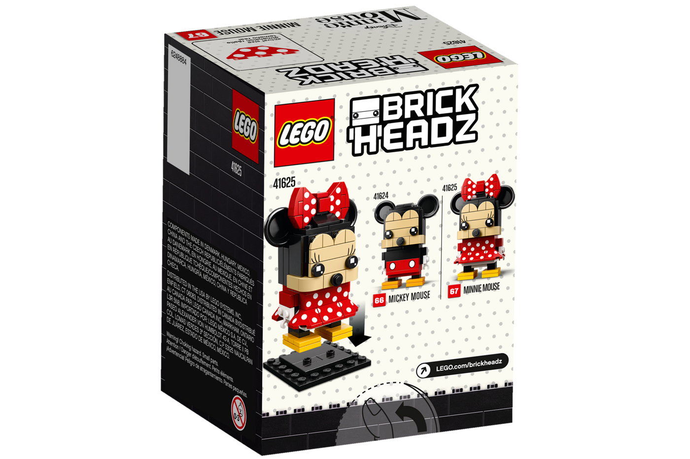 Minnie Mouse Kinderküche Lego Brick Headz 41624 Mickey Mouse And 41625 Minnie Mouse