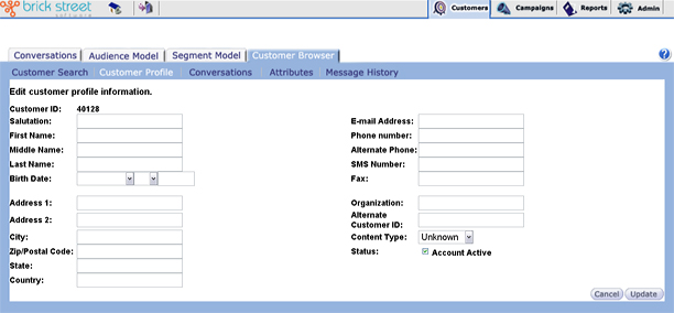 Creating and Editing Customer Profiles - customer profile