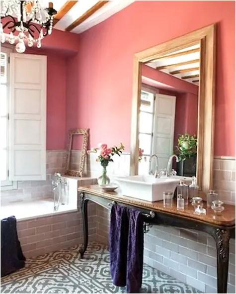lux rose salle de bain Choisir la couleur de la salle de bain   21 Idées de couleurs