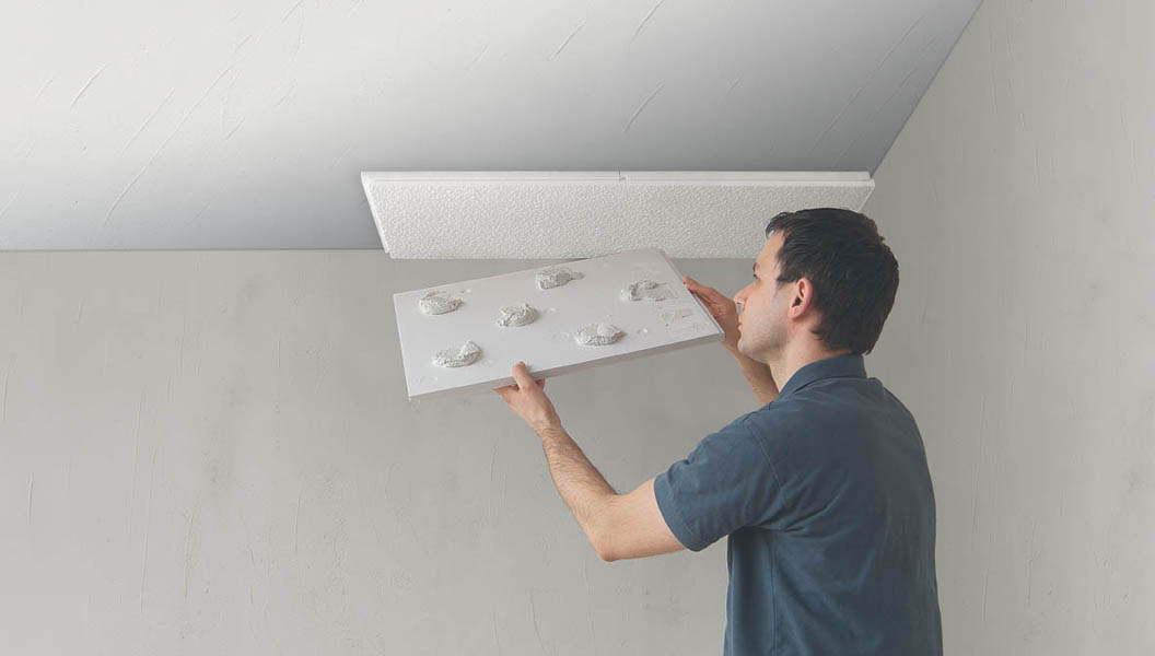 Papier Renovation Leroy Merlin Comment Installer Des Dalles De Polystyrène Au Plafond