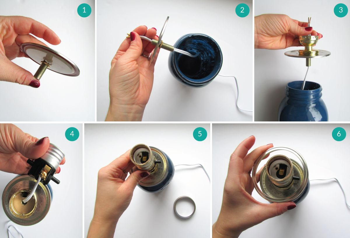 Do It Yourself Lampen Diy Lampe Bocal
