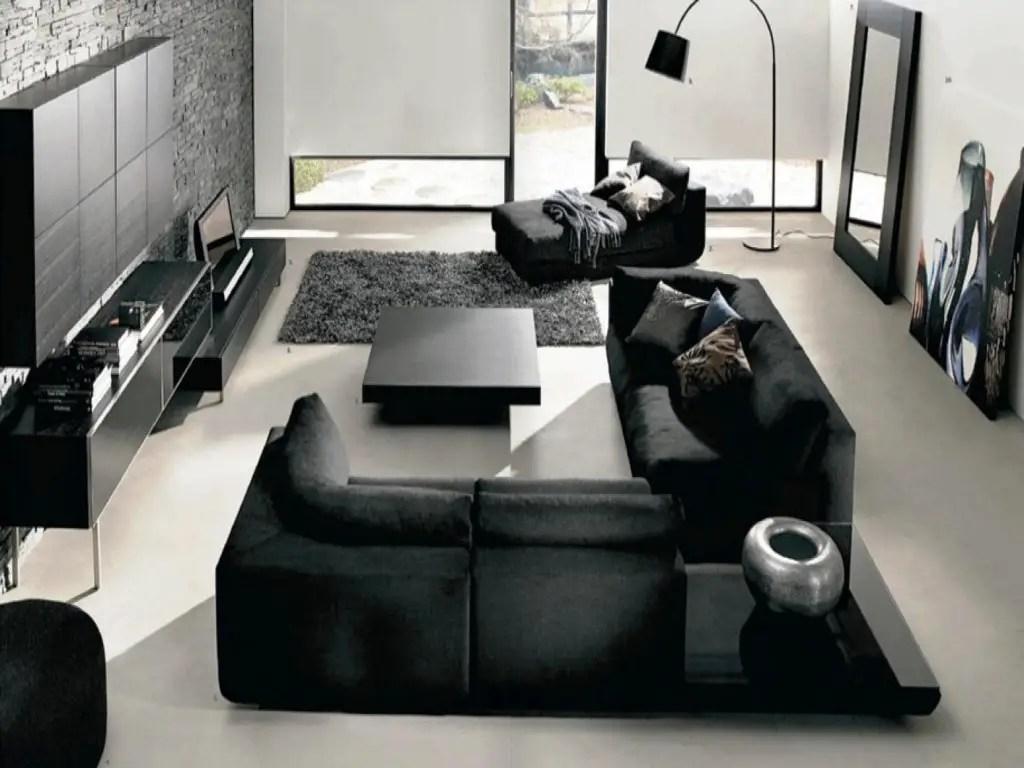 Salon Moderne Noir