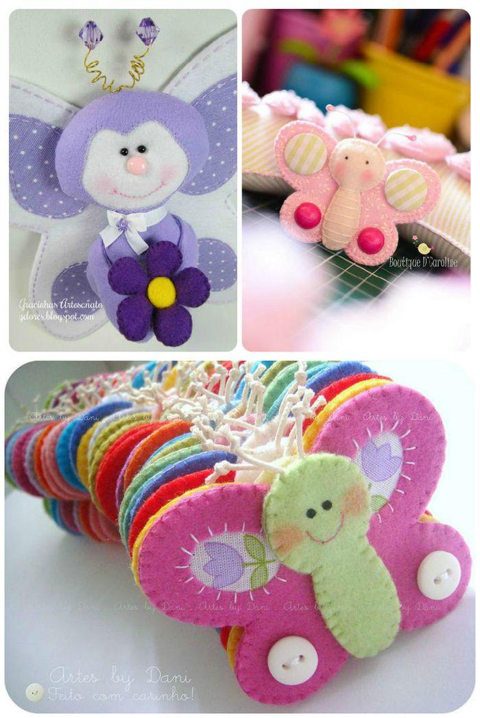 Taller de fieltro desde cero reto mariposa for Manualidades decoracion infantil