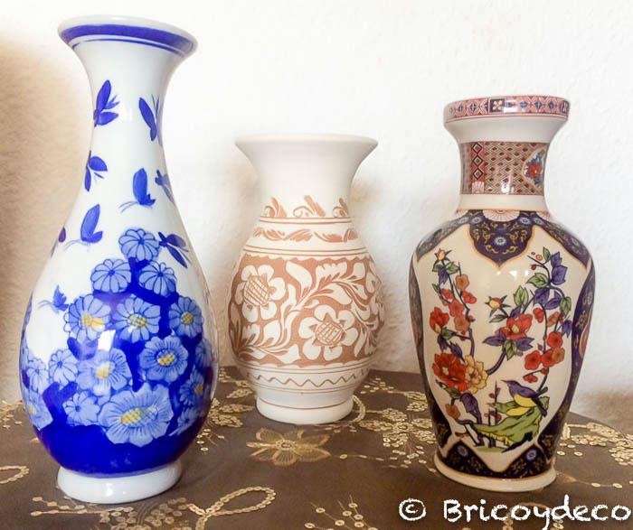 C mo reciclar jarrones de cer mica con pintura en spray - Jarrones de ceramica ...