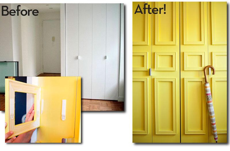 Ideas para decorar un apartamento de alquiler con estilo - Decorar puertas de armarios ...
