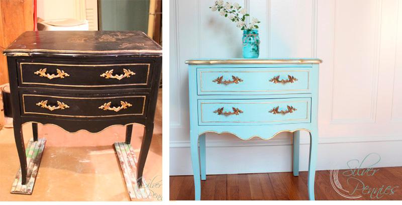 Renovar los muebles pint ndolos de azul for Combinar muebles oscuros y claros