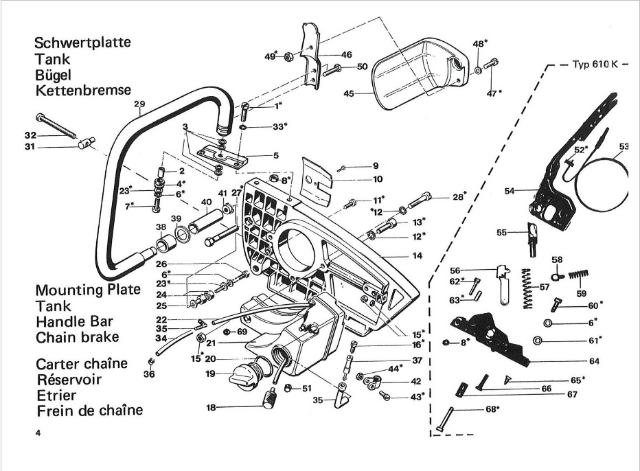 alpina schema moteur tondeuse rsc