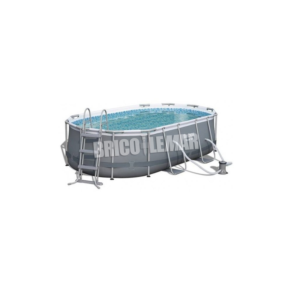 Piscinas Desmontables Madrid Piscina Desmontable Tubular Bestway Power Steel 425x205x100cm Oval