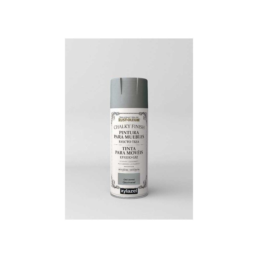 Pintura De Tiza En Spray Pintura Chalky Finish Rustoleum 400ml Spray Gris Invernal