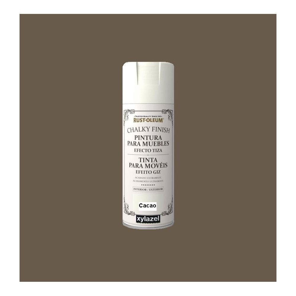 Pintura De Tiza En Spray Pintura Chalky Finish Rustoleum 400ml Spray Cacao