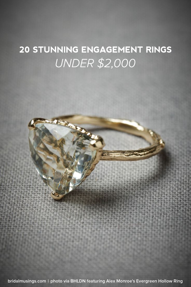 20 STUNNING ENGAGEMENT RINGS UNDER $2 000 crazyforus