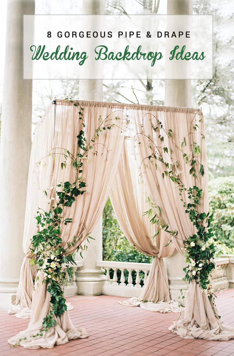 Draping Curtains 8 Gorgeous Pipe Drape Wedding Backdrops Bridalpulse