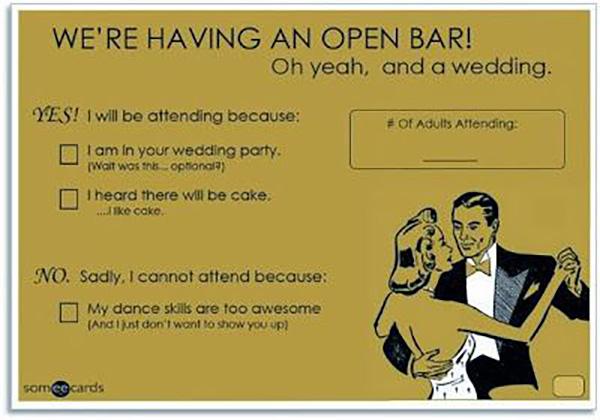 Creative Funny RSVP Card Wordings Philippines Wedding Blog - rsvp e cards