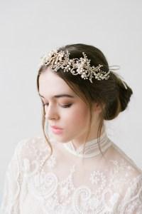 wedding hair accessories au macy gold crystal pearls ...