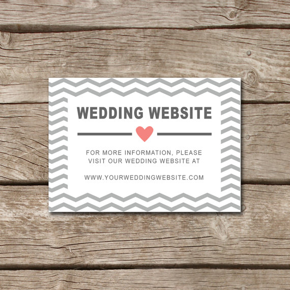 Wedding Website Insert Card #FM29 \u2013 Advancedmassagebysara