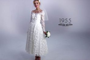 Wait till you see 100 years of wedding dresses in 3 minutes