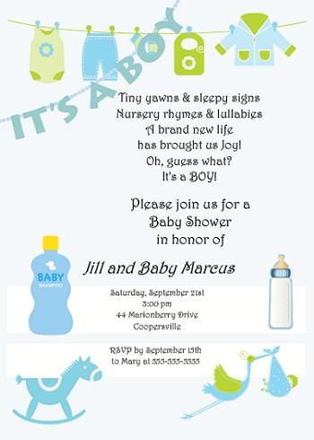 Baby Shower Invitation Wording For Boys - Bathroom Design Ideas