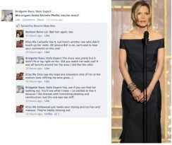 Michelle Pfeiffer Golden Globes