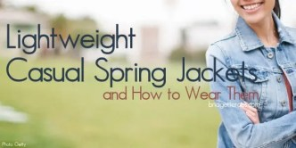 casual spring jackets