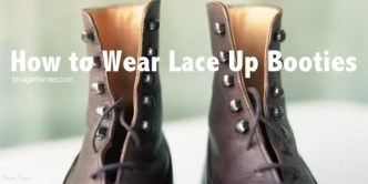 How to Wear Lace Up Booties