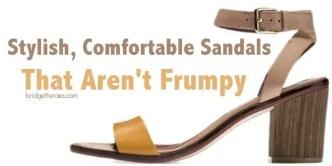 stylish, comfortable sandals