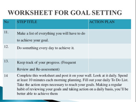 Action Planning Reaching Your Goals In Manageable Steps