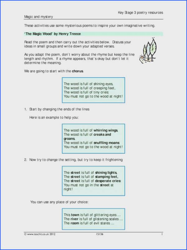 Poetry Analysis Worksheet - Briefencounters Worksheet Template Samples