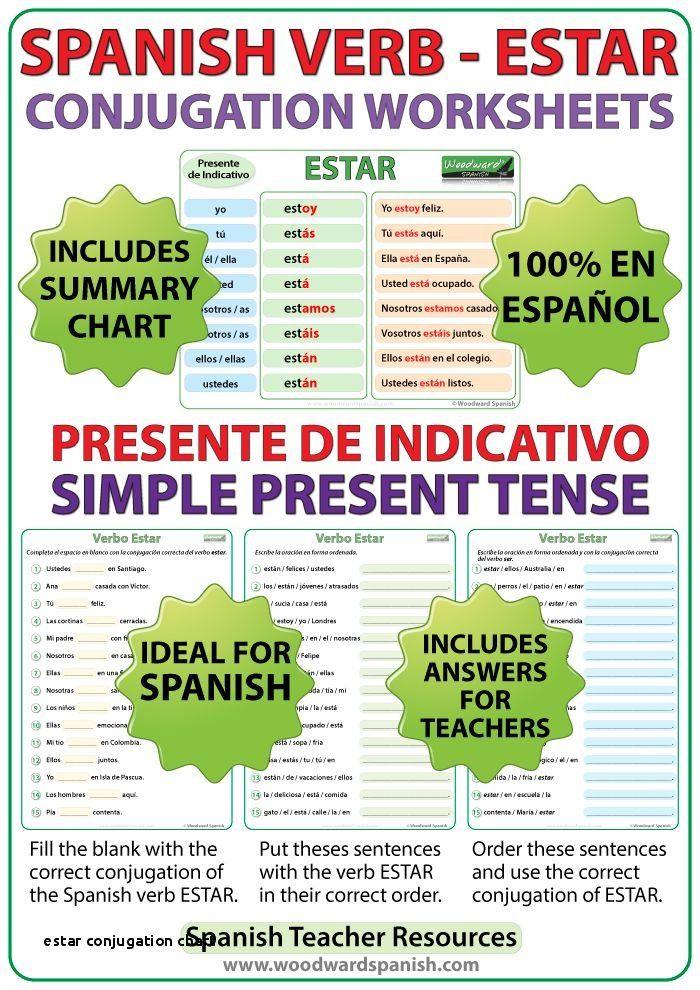 Spanish Conjugation Worksheets - Briefencounters Worksheet Template