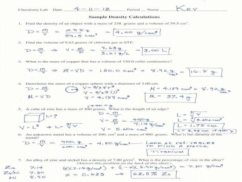Stoichiometry Worksheet Answer Key - Briefencounters Worksheet