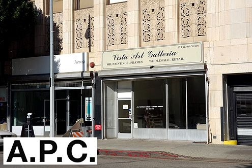 A.P.C. will be taking over the former gallery space next door to the Aesop pop-up store along 9th Street