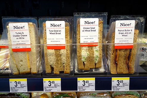 Grab-n-go meals include fresh made sandwiches