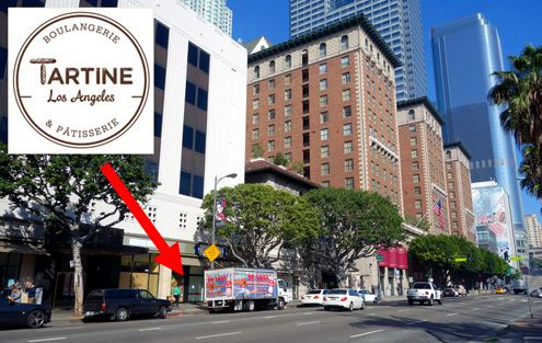 A new French bakery cafe called Tartine is coming to the PacMutual along Olive Street in Downtown LA