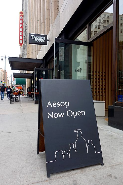 Aesop is now open at 9th and Broadway in Downtown LA next to Tanner Goods, Umami Burger, and the future A.P.C. store on 9th Street