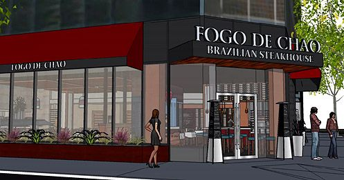 Meat lovers rejoice as Fogo de Chão, with their AYCE Brazilian BBQ, plans to open before spring 2015 at 8th/Figueroa in Downtown LA (Photo: Steven Langford Architects)