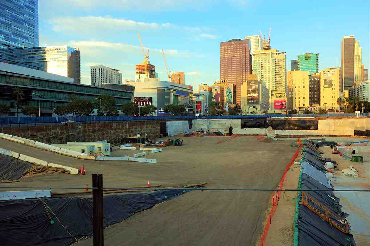 Downtown LA Oceanwide Plaza: Concrete Pour Begins, Cavalli Hotel Out