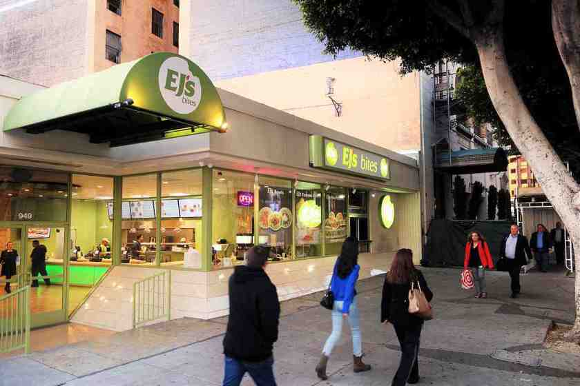 EJ's Bites has brought tasty and affordable Mediterranean food in a casual setting to South Park in Downtown LA (Photo: Brigham Yen)