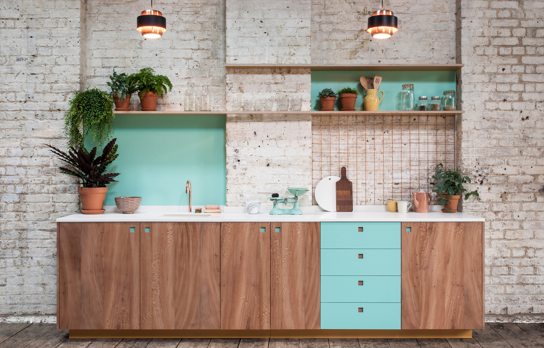 Kitchen Color Design Pictures Aqua Kitchen One Color Design Inspiration Bright Bazaar By Will