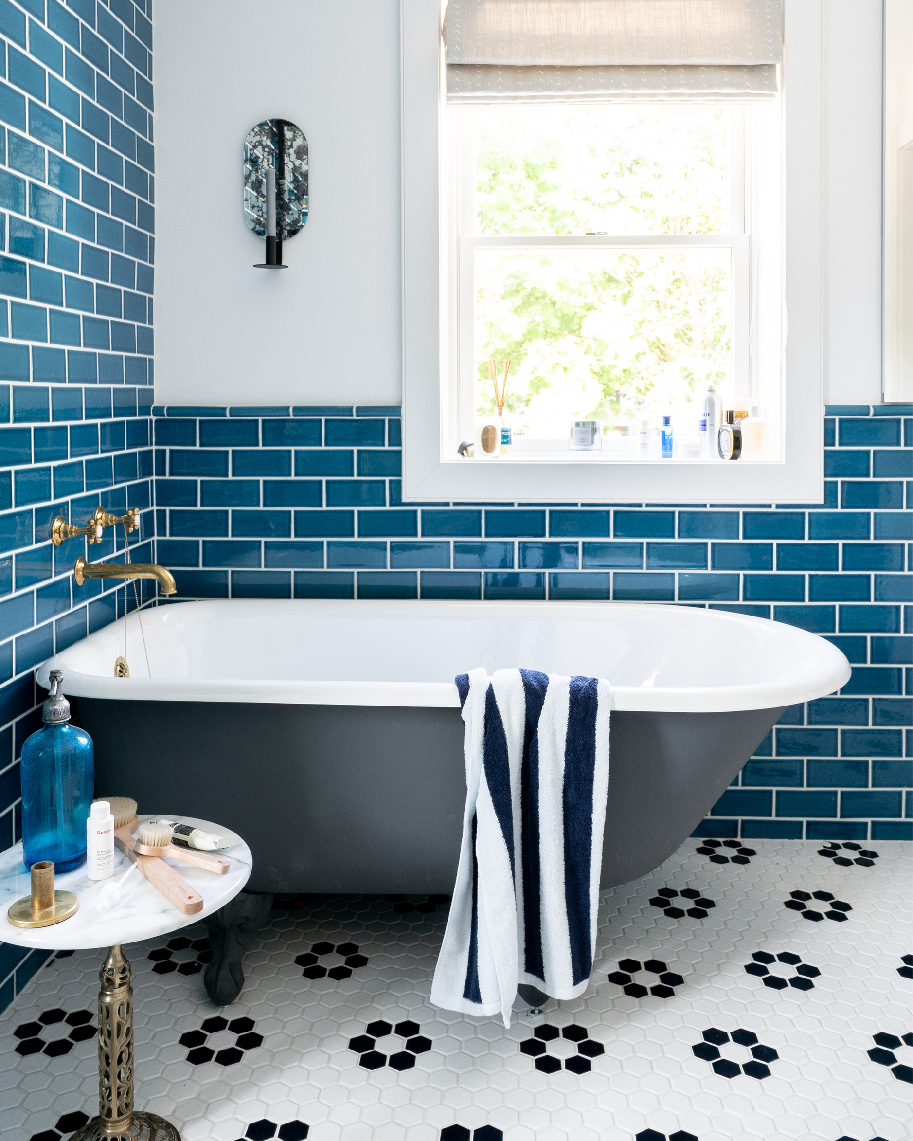 Subway Tiled Bathrooms Blue Subway Tile Bathroom 3 Bright Bazaar By Will Taylor