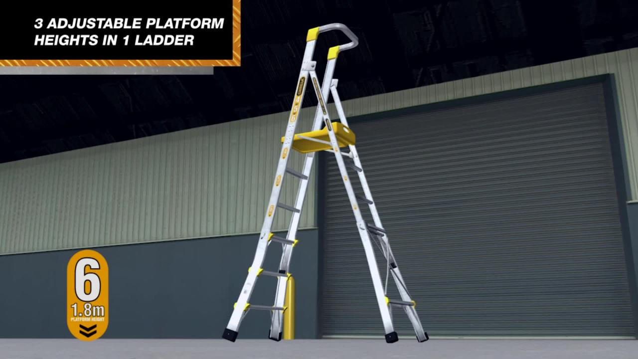 Platform Ladder Bunnings Gorilla Ladders Bunnings Warehouse