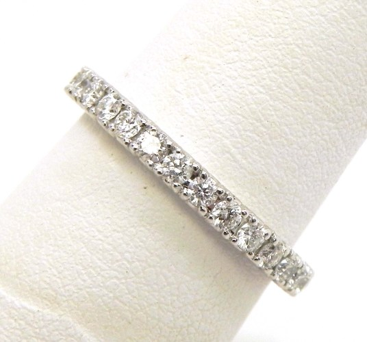 ladies 18k white gold diamonds eternity wedding band ring eternity wedding bands Eternity Wedding Band Ring 00 Previous Next