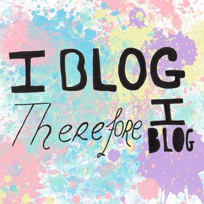 I blog therefore I blog