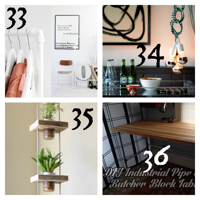 Industrial DIY Decor Round-up