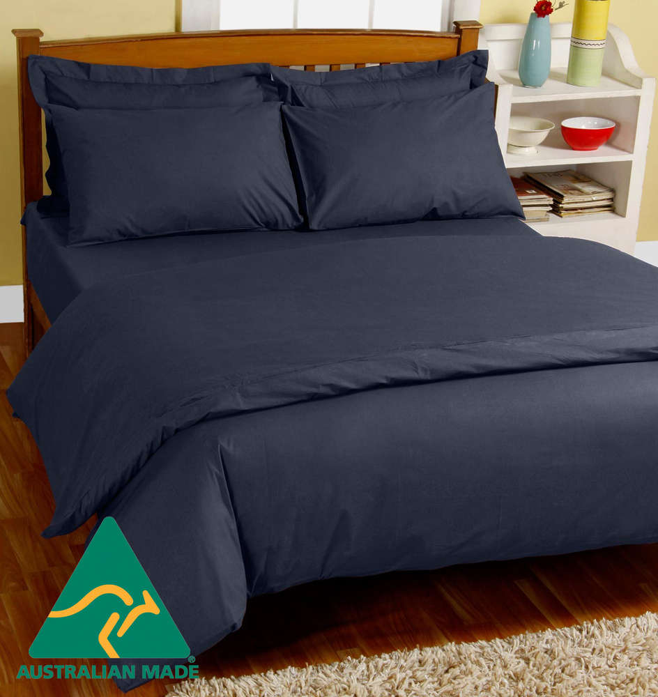 Doona Protector Minappi Waterproof Doona Cover Navy Single