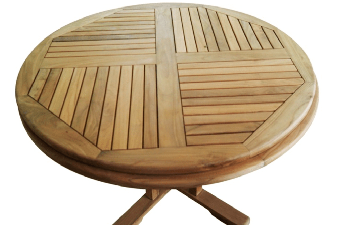 Harga Teakwood Round Teak Wood Outdoor Garden Table Natural Colour By Arts Classic