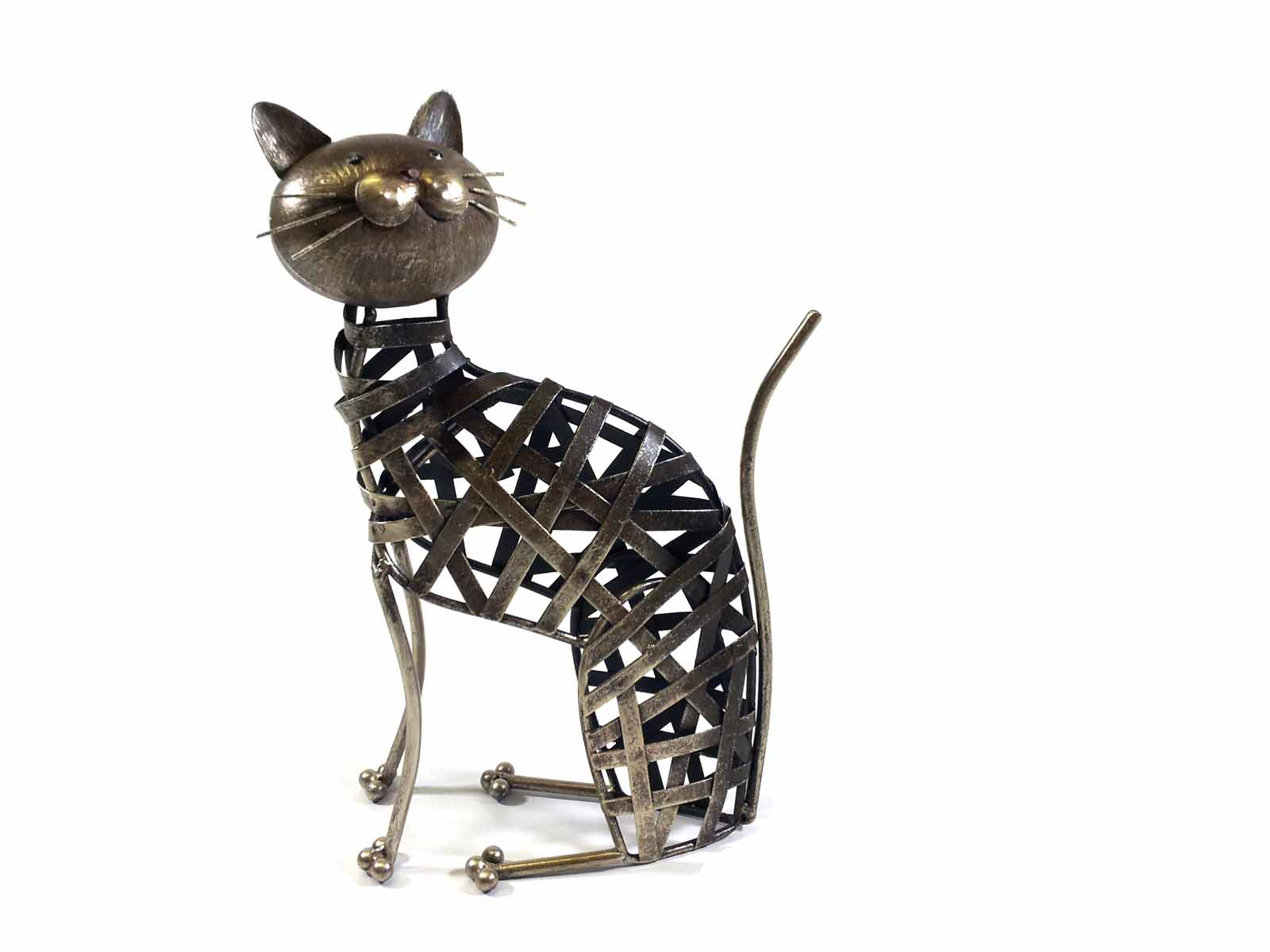 Cat Wall Art Metal Metal Weave Cat Ornament